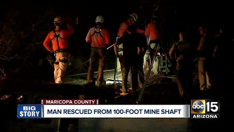Man rescued from mine shaft west of the Valley