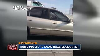 Knife pulled in apparent road rage case - Video