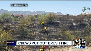 Crews extinguish four-acre brush fire in north Scottsdale accidentally sparked by welder - Video
