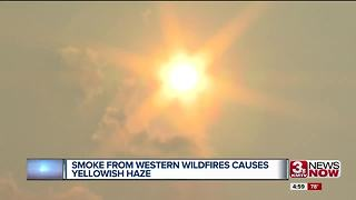 Smoke from western wildfires yellows Omaha skies - Video