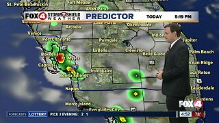 Forecast: A typical rainy season forecast with afternoon and evening storms