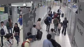 Woman kidnapped inside airport after stepping off plane - Video