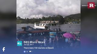 Tourist boat carrying 150 sinks in Columbia | Rare News - Video