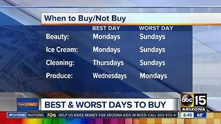 Best and worst days to buy groceries