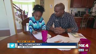 No Homework? Lee County School teachers given option - Video