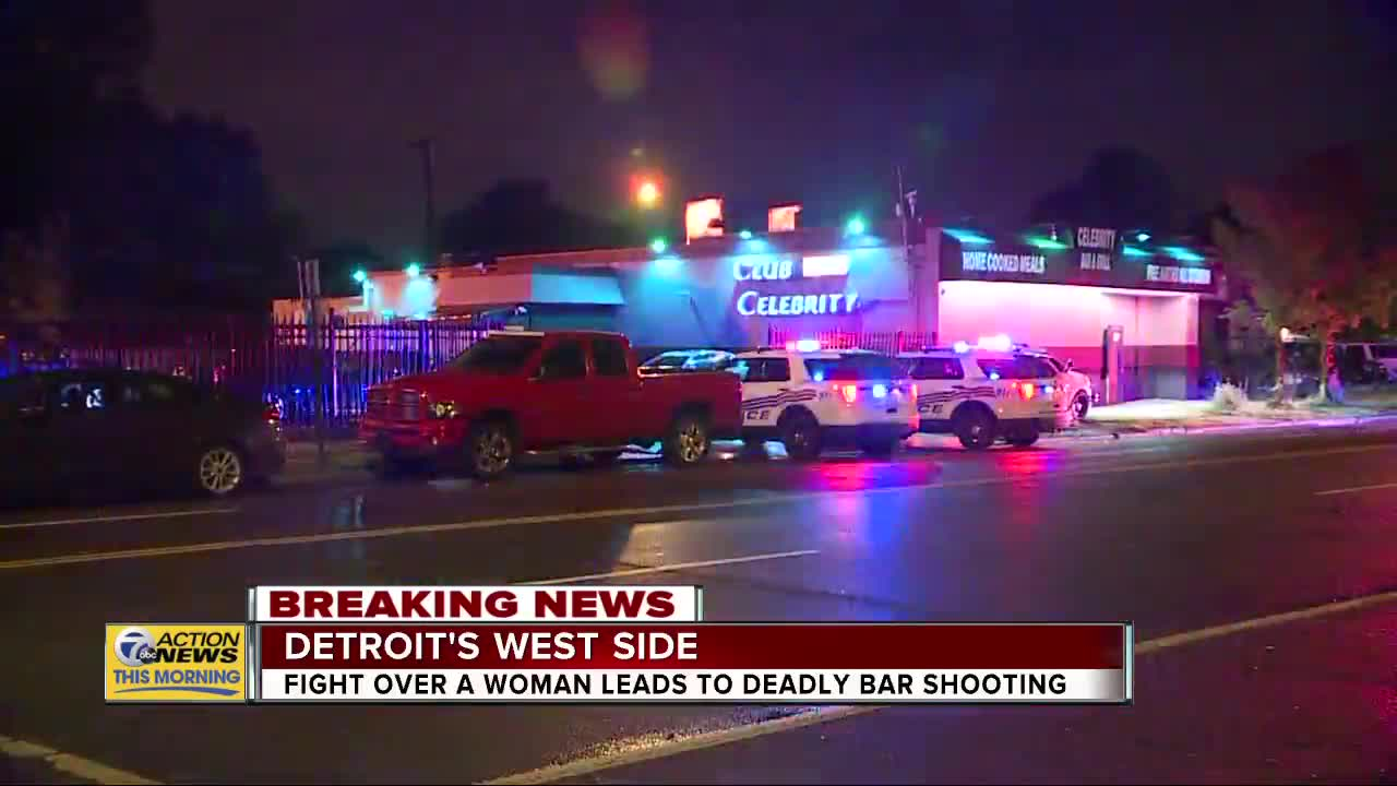 Fight over woman leads to deadly bar shooting in Detroit