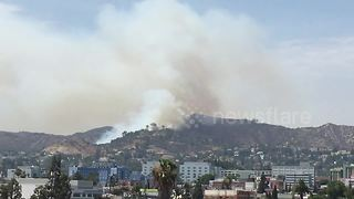 Brush fire breaks out in Los Angeles' Griffith Park