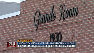 Couples left in the dark after wedding venues close