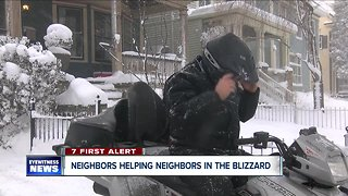 Neighbors helping neighbors in the blizzard