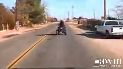 Man Fleeing Police On ATV Refuses To Stop, Watch As Karma Takes Over