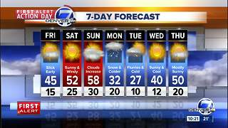 FIRST ALERT ACTION DAY: Snow in Denver tonight, icy roads tomorrow morning - Video