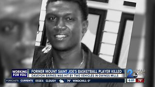Former Mount Saint Joseph basketball player struck, killed in Owings Mills