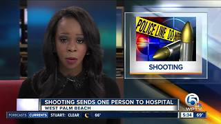 Shooting sends 1 person to the hospital in West Palm Beach - Video