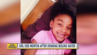 8-year-old Florida girl dies months after being dared to drinking boiling water from a straw - Video