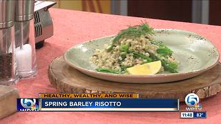 Recipe for spring barley risotto - Video