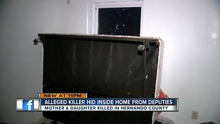 Alleged killer hid inside home from deputies - Video