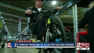 Families traveling to Tulsa for USABMX Grands - Video