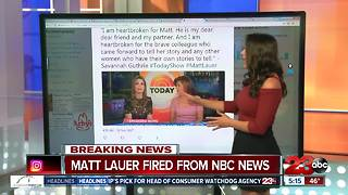 BREAKING: Matt Lauer Fired from NBC and Today Show