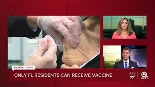 Only Florida residents can receive first dose of COVID-19 vaccine in Sunshine State
