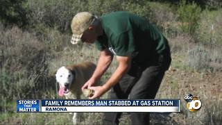 Family remembers man stabbed at Ramona gas station - Video