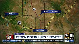 Five inmates injured in riot at Douglas prison - Video