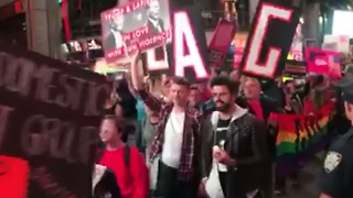 Gun Control Rally Held in Times Square After Las Vegas Shooting - Video