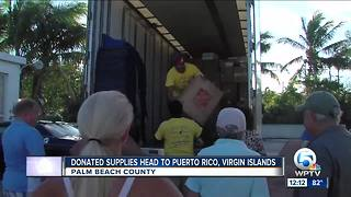 Supplies collected in South Florida headed to Puerto Rico, U.S. Virgin Islands - Video