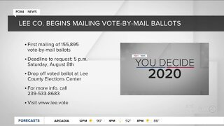 Lee County begins mailing ballots