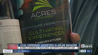 Marijuana dispensary takes out ad in major airline magazine - Video