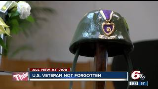 Veteran with no known family laid to rest in Indiana
