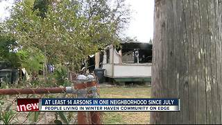 Investigators search for possible arsonist after 14 fires intentionally set in Winter Haven - Video