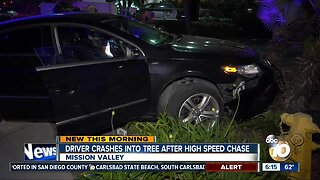Woman arrested after chase ends in crash