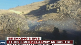 3 acres burned in early morning brush fire - Video