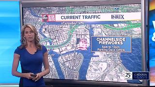 Fourth of July Fireworks traffic in Tampa Bay - Video