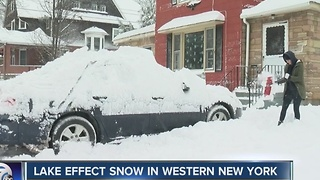 Snow continues to hit the snow belt - Video