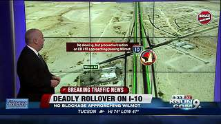 Victim dies following rollover crash on I-10E - Video
