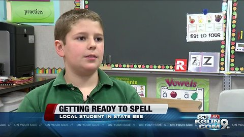 Southern Arizona student prepares for state spelling bee