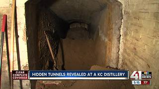 Local distillery exploring tunnel in building - Video
