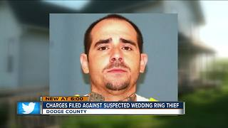 Man accused of stealing wedding rings charged in Dodge County - Video