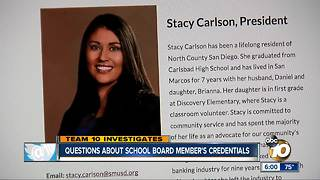 Question about school board member's credentials