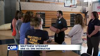 Attica Middle School teachers train for active shooting drill