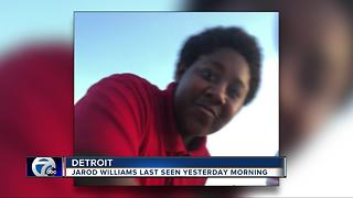 Detroit Police search for missing Jarrod Williams - Video