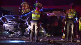Two hurt in head-on wrong-way crash on Interstate 90 in Bratenahl overnight - Video