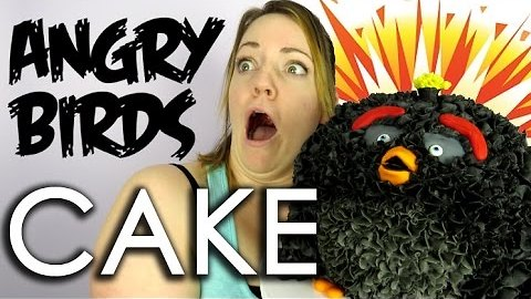 Angry Birds Movie cake Black Bomb Bird - How to with the Icing Artist