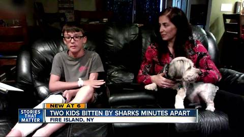 Two kids bitten by sharks just minutes apart off a beach in New York