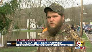 Rising water in New Richmond - Video