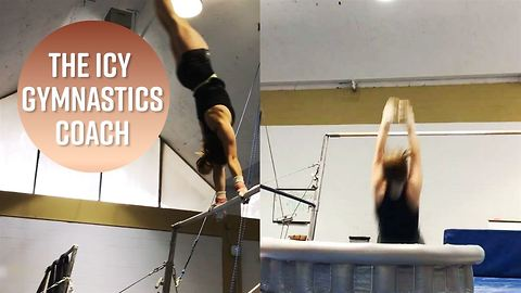 This gymnastics coach's training tactic is chilling