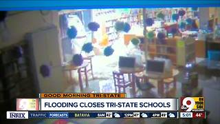 Schools, roads still cleaning up after Sunday night's flooding - Video