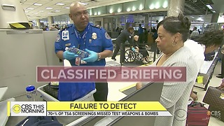 Undercover TSA Airport Screenings System Check Produces 70 Percent Failure Rate - Video