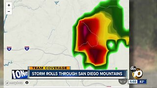 Storm rolls through San Diego Mountains